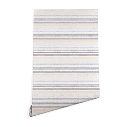 Deny Designs Holli Zollinger French Stripe Peel and Stick Wallpaper in Navy