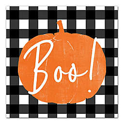 "Designs Direct ""Boo"" Buffalo Check 16-Inch Square Canvas Wall Art"