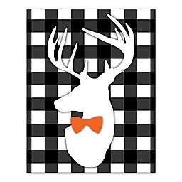 Designs Direct Halloween Deer Buffalo Check 11-Inch x 14-Inch Canvas Wall Art