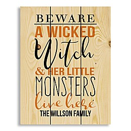 """Designs Direct """"A Wicked Witch Monsters"""" 10.5-Inch x 14-Inch Canvas Wall Art"""