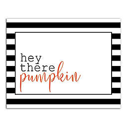 """Designs Direct """"Hey There Pumpkin"""" 11-Inch x 14-Inch Canvas Wall Art"""