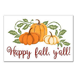 "Designs Direct ""Happy Fall Y'all"" 18-Inch x 12-Inch Canvas Wall Art"