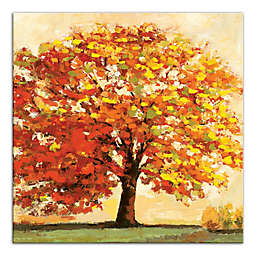 Designs Direct Fall Tree 16-Inch Square Canvas Wall Art