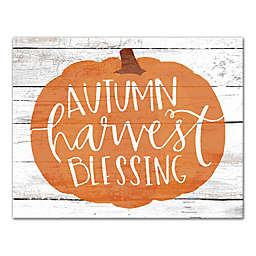 """Designs Direct """"Autumn Harvest Blessing"""" 11-Inch x 14-Inch Canvas Wall Art"""