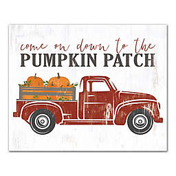 "Designs Direct ""Down to the Pumpkin Patch"" 11-Inch x 14-Inch Canvas Wall Art"
