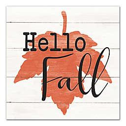 """Designs Direct """"Hello Fall"""" 20-Inch Square Canvas Wall Art"""