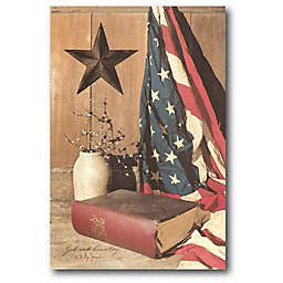 """Courtside Market """"God and Country"""" 22-Inch x 16-Inch Canvas Wall Art"""