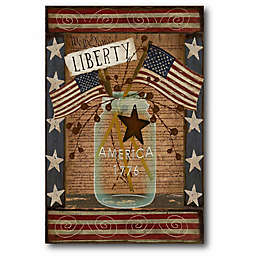 Courtside Market Liberty Mason Jar Canvas Wall Art