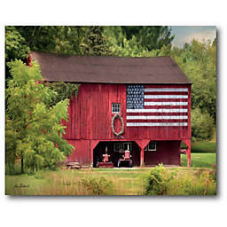 Courtside Market American Flag Barn Canvas Wall Art