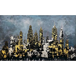 Moe's Home Collection 60-Inch x 36-Inch Dark Night Wall Art