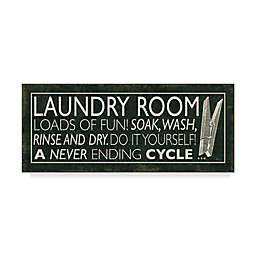 Trademark Fine Art Laundry Room I Clothespin Canvas Wall
