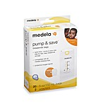 Medela® Pump & Save™ 20-Count Breastmilk Bags with Easy-Connect Adapter