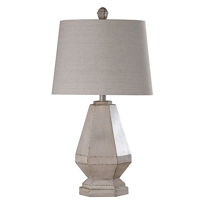 Alternate image 1 for Table Lamp in Grey/beige