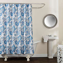 Avignon Floral 72-Inch x 96-Inch Shower Curtain in Blue