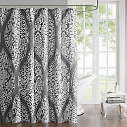 510 Design Jaclin Printed Shower Curtain in Grey
