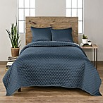 Vue Ella Queen Quilt Set in Blue