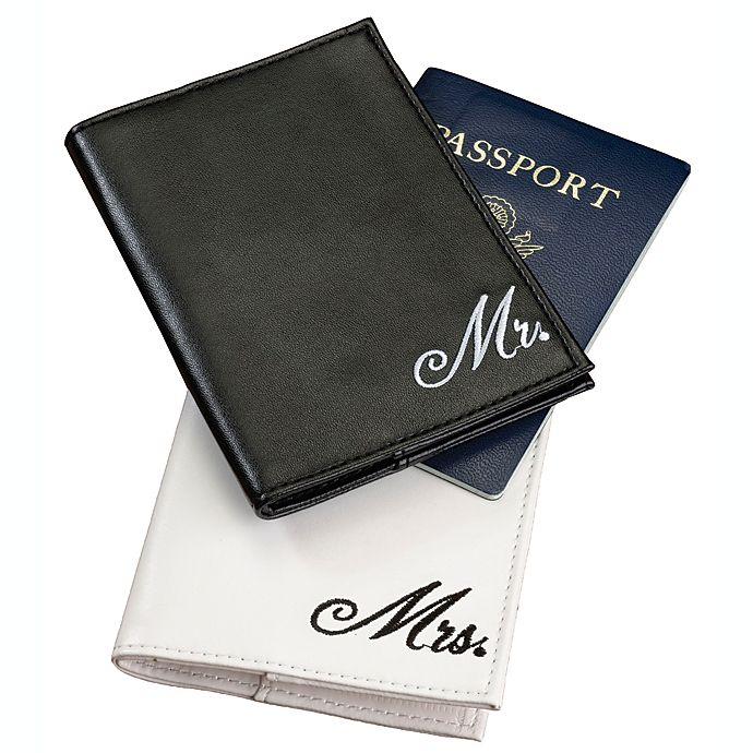 Alternate image 1 for Lillian Rose™ Mr. and Mrs. Passport Covers 2-Piece Set