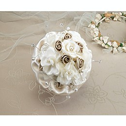 Lillian Rose™ Taupe Rose Wedding Bouquet