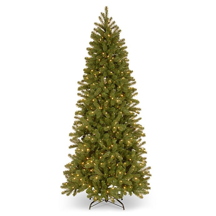 National Tree Company 7 Foot Pre Lit Downswept Douglas Slim Artificial Christmas
