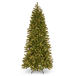 National Tree Company 7-Foot Pre-Lit Downswept Douglas Slim Artificial Christmas Tree