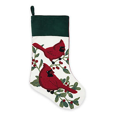 20-Inch Poinsettia Berry Christmas Stocking