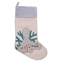 20-Inch Holiday Serenity Octopus Christmas Stocking