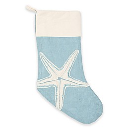 Starfish Christmas Stocking in Blue