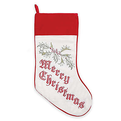 Wenham Holly Christmas Stocking in Red
