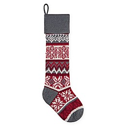 C&F Home Winter Snowflake Stocking in Grey