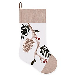 C&F Home Natural Pines Stocking in White/Beige