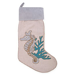 C&F Home Holiday Serenity Seahorse Stocking in Blue