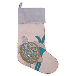 C&F Home Holiday Serenity Turtle Stocking in Blue