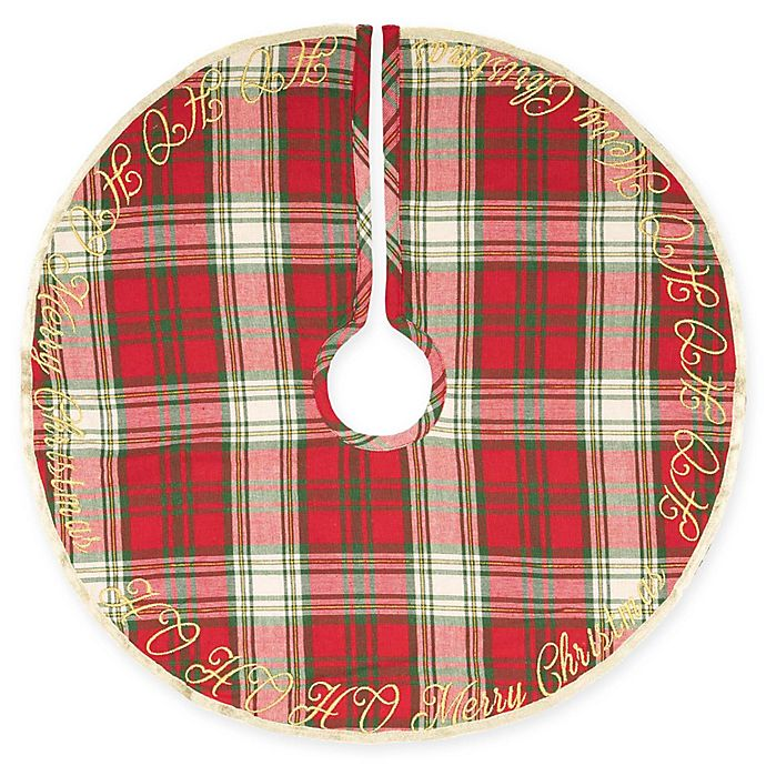 Mini Christmas Tree Skirt Pattern.Vhc Brands Ho Ho Holiday Mini Christmas Tree Skirt Bed