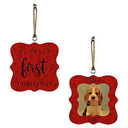 """Designs Direct """"Our First Christmas"""" Whimsical 2-Sided Wood Ornament"""