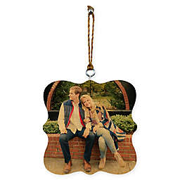 Photo Upload Whismical 2-Sided Wood Ornament