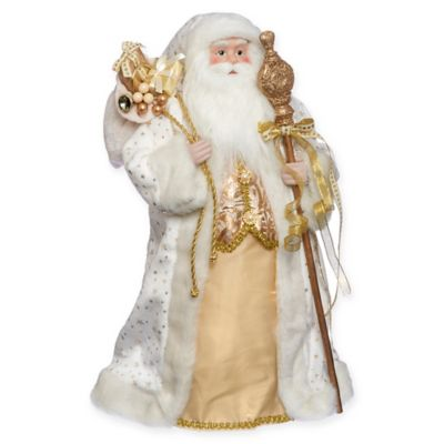 Roman Inc 18 Inch Santa With Gifts Treetopper Bed Bath