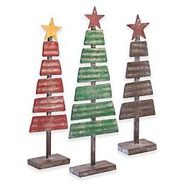 Boston International 3-Piece Vintage Christmas Tree Set