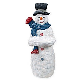 Design Toscano Flurry the Snowman Butler Pedestal Table