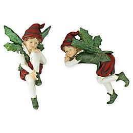 Santa's Christmas Elves Shelf Sitter Figurines (Set of 2)
