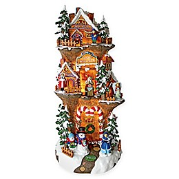 Design Toscano Santa's Illuminated North Pole Workshop Statue