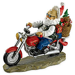 Design TOSCANO® Old School Father Christmas Santa Biker Statue