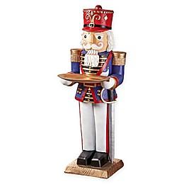 Design TOSCANO® Nutcracker Soldier Butler Pedestal Figurine