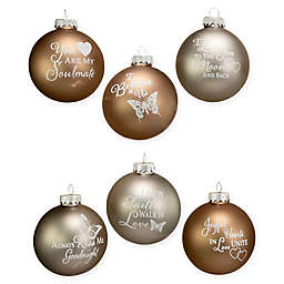 Kurt Adler Country Glass Ornament Balls (Set of 6)