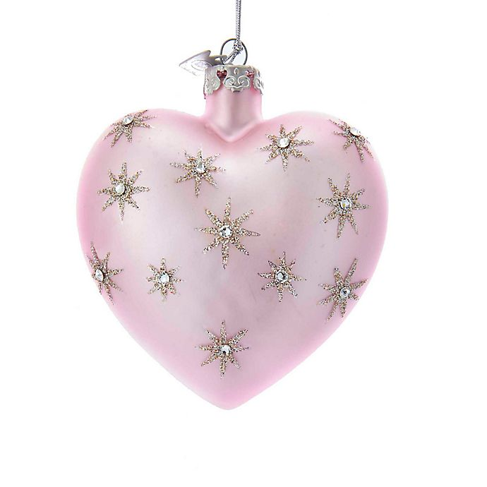 3.2-Inch Glitter Star Heart Christmas Ornament in Light ...