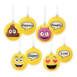 Kurt Adler 4-Piece Emoticon Ornaments