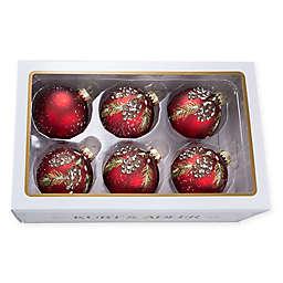 Kurt Adler Pine Cone Christmas Ornaments (Set of 6)