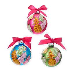 Kurt Adler Pineapple Christmas Ornaments (Set of 6)
