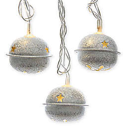 10-Light Silver Bell LED Light Set