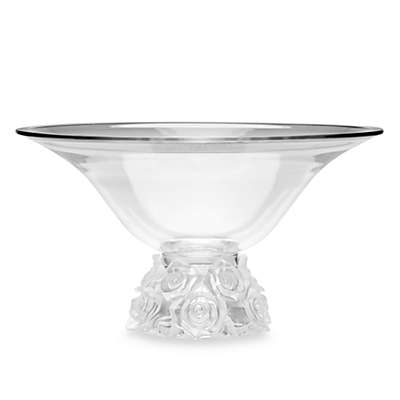 Godinger Dublin Crystal Rose Bouquet Centerpiece Bowl