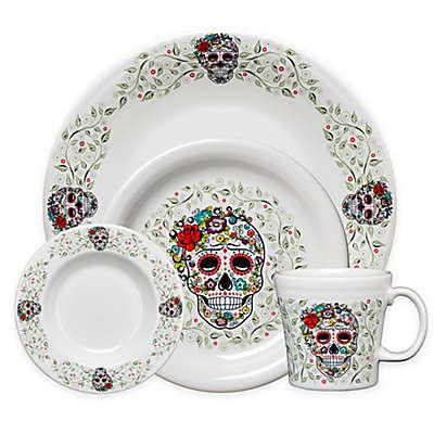 Fiesta® Halloween Sugar Skull Dinnerware Collection in White